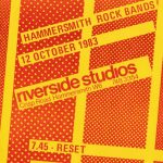Flyer for Riverside Studios gig