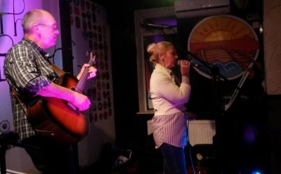 Tracy and Graham at the Rowbarge, Guildford