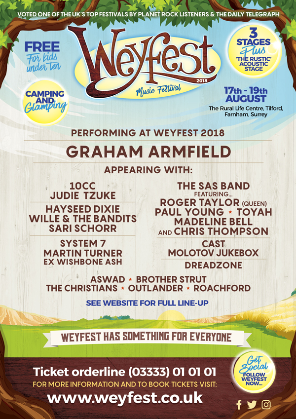 I'm Playing at Weyfest 2018