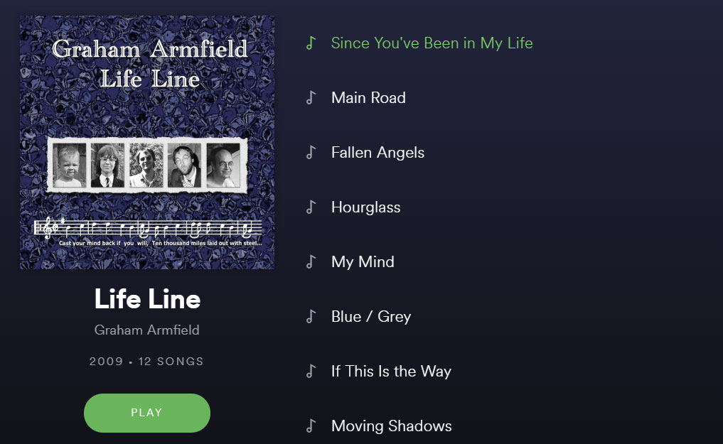 Life Line album on Spotify