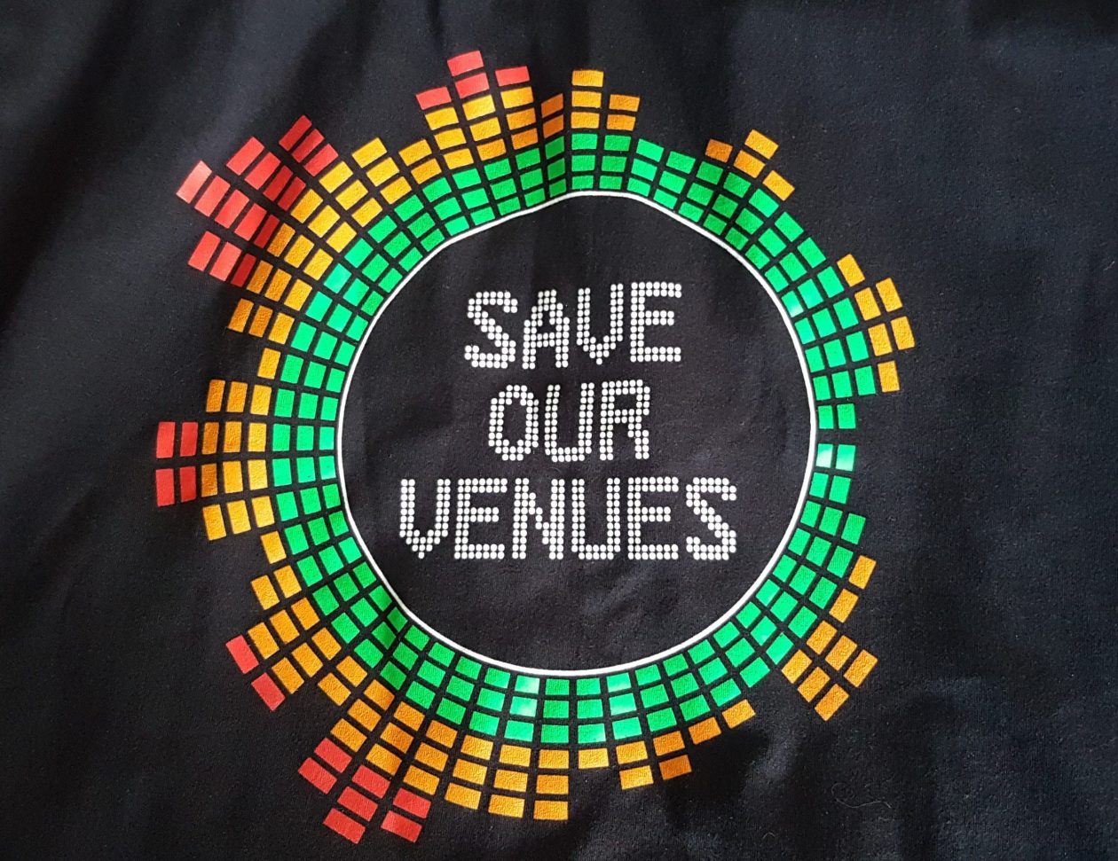 Save Our Venues T-shirt design