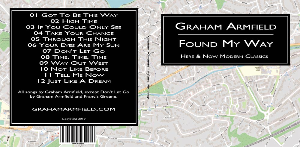 The outside cover of Found My Way CD.